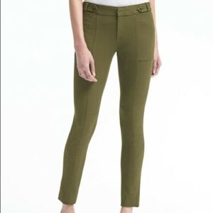 Banana Republic Sloan Army Green Crop Dress Pants